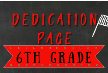 6th dedication page