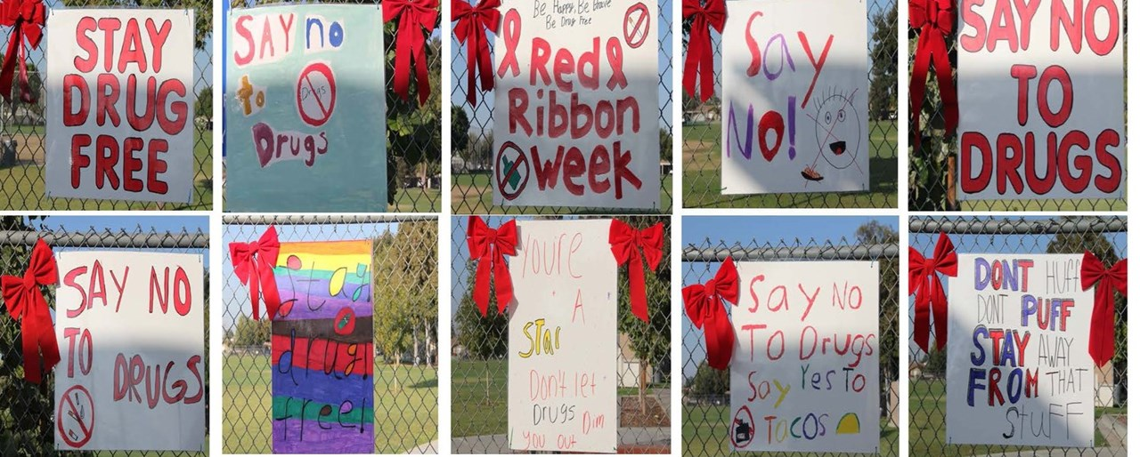red ribbon posters