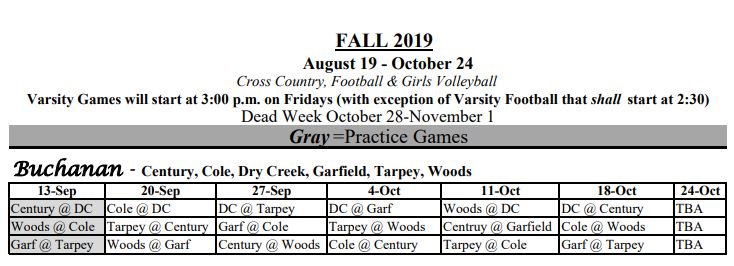 2019 fall sports for Tarpey